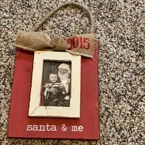 🎄wooden picture ornament